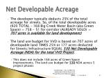 net developable acreage
