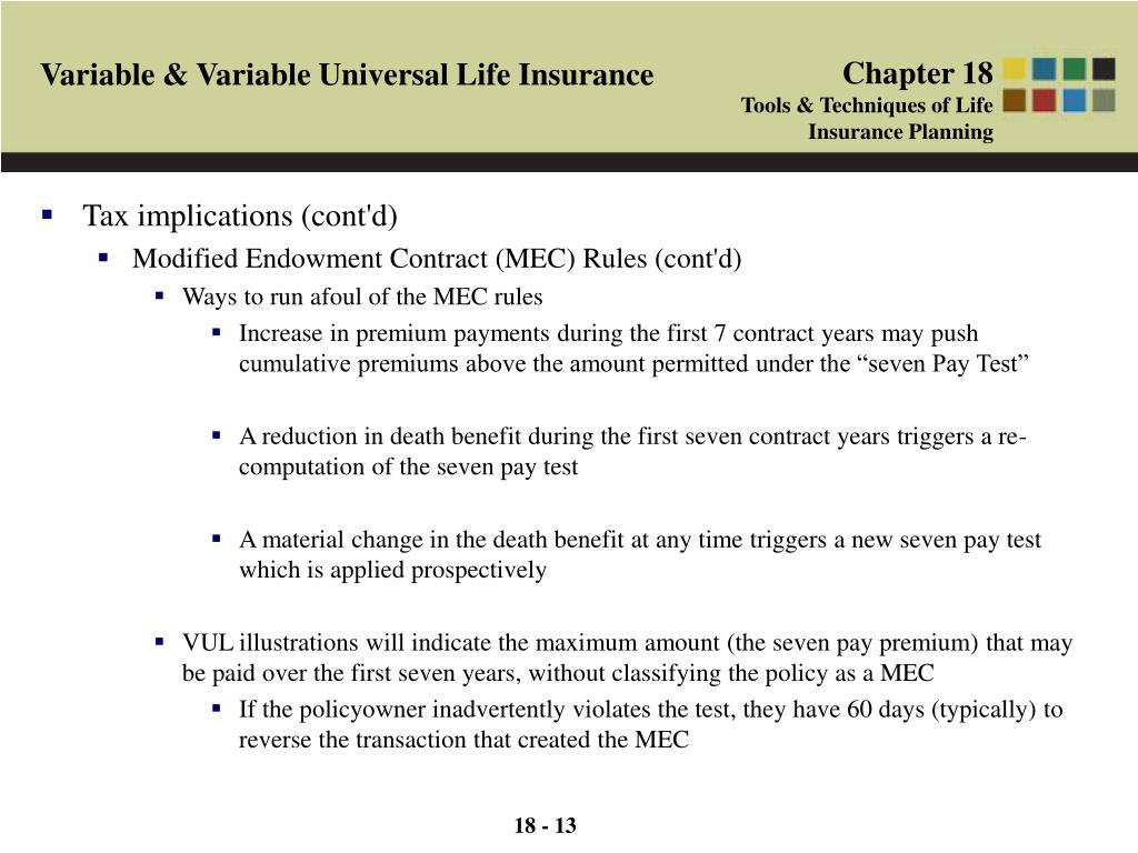 PPT - Variable & Variable Universal Life Insurance ...