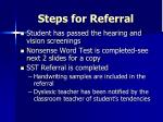 steps for referral