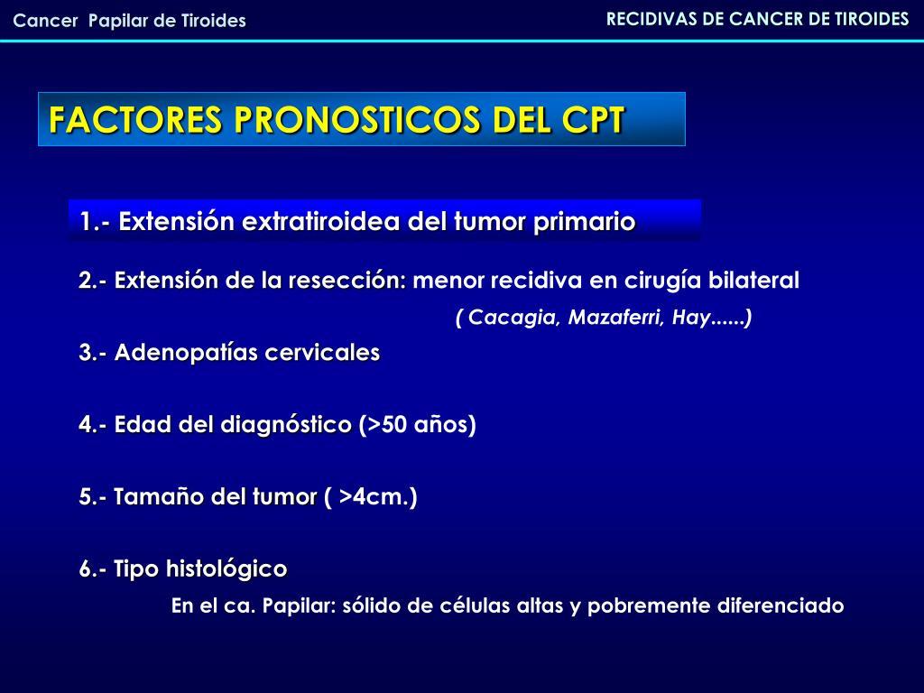 carcinoma mas frecuente de tiroides