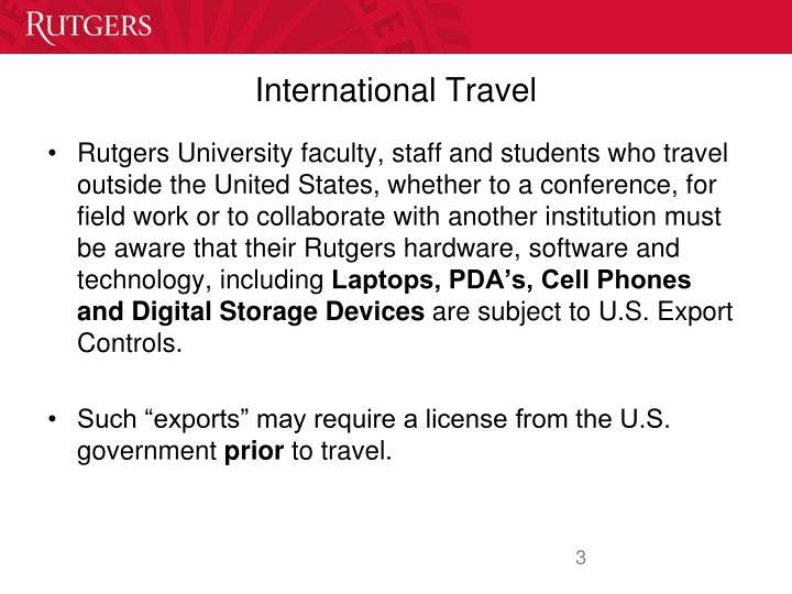International travel1