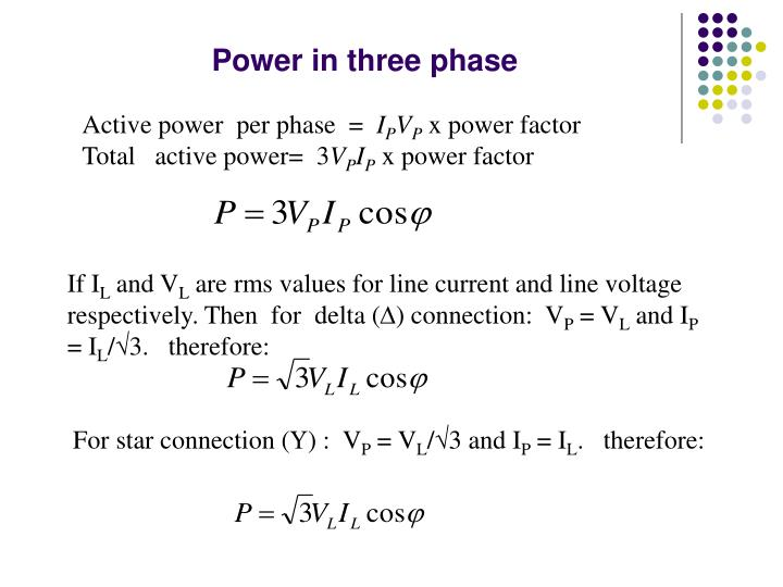 Power in three phase