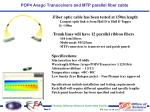 pop4 avago transceivers and mtp parallel fiber cable