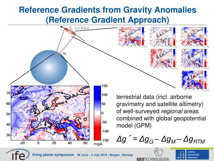 Reference Gradients from Gravity Anomalies (Reference Gradient Approach)