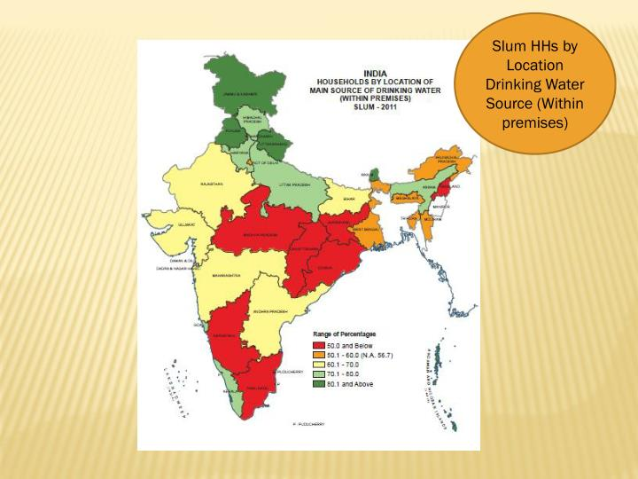 Slum HHs by Location Drinking Water Source (Within premises)