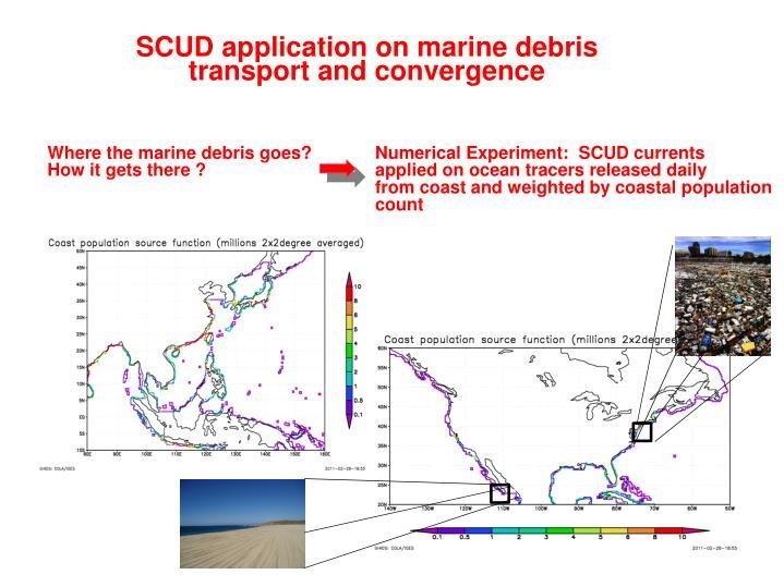 SCUD application on marine debris