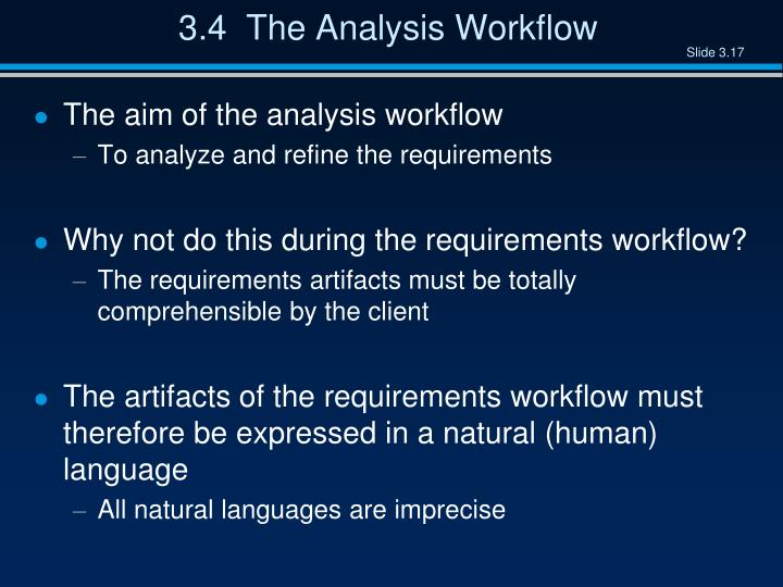 3.4  The Analysis Workflow