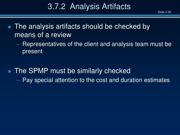 3.7.2  Analysis Artifacts