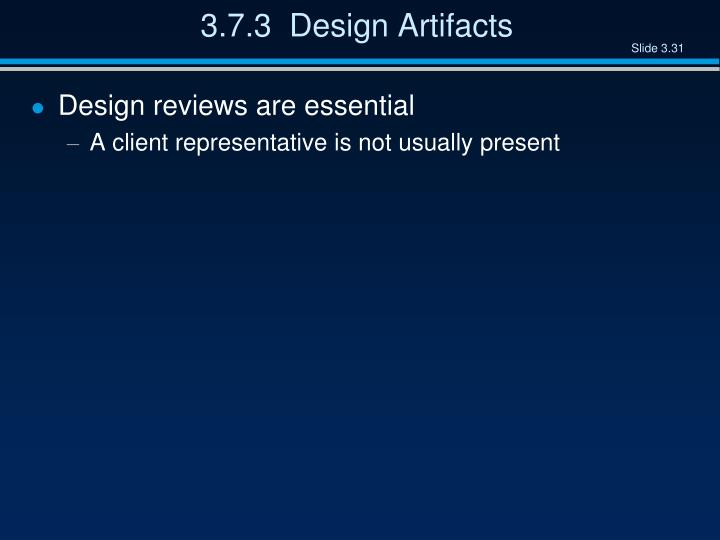 3.7.3  Design Artifacts