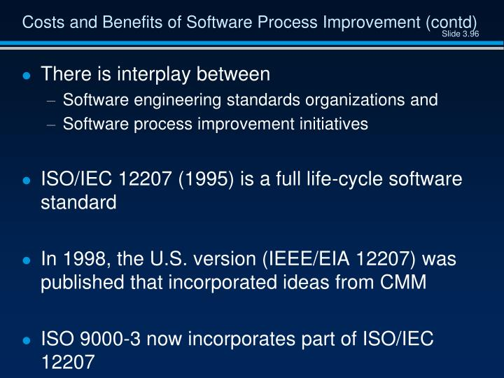 Costs and Benefits of Software Process Improvement (contd)