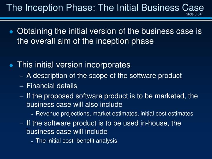 The Inception Phase: The Initial Business Case