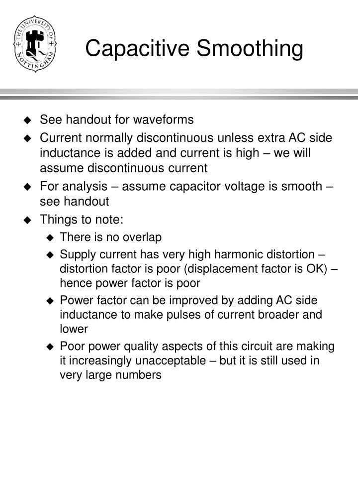 Capacitive Smoothing