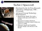 tacsat 2 spacecraft