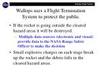 wallops uses a flight termination system to protect the public