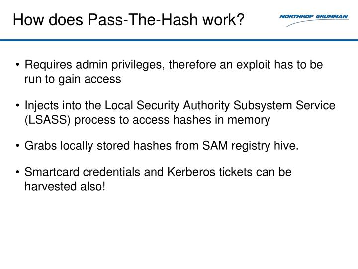 How does Pass-The-Hash work?