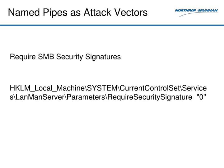 Named Pipes as Attack Vectors