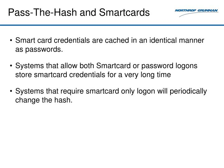 Pass-The-Hash and Smartcards