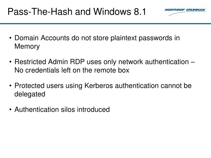 Pass-The-Hash and Windows 8.1