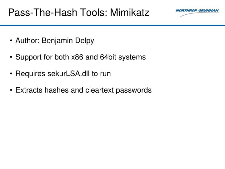 Pass-The-Hash Tools: