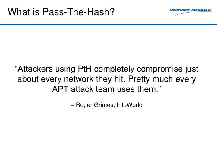 What is pass the hash