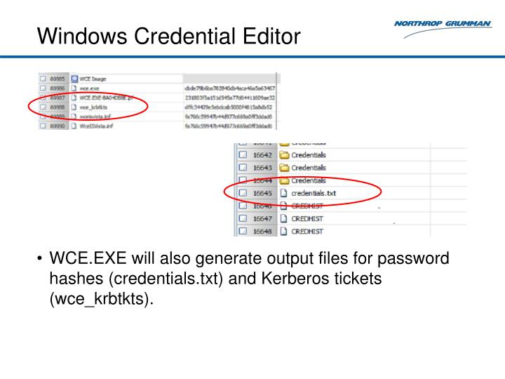 Windows Credential Editor