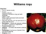 williams ro u