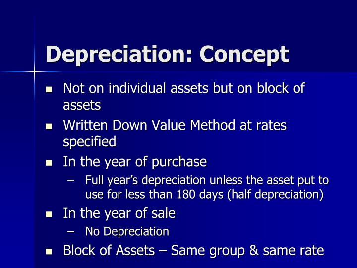 Depreciation: Concept