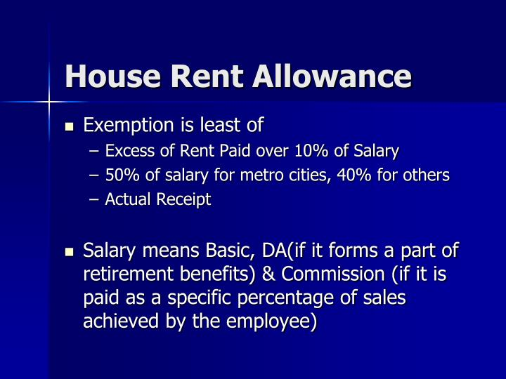 House Rent Allowance