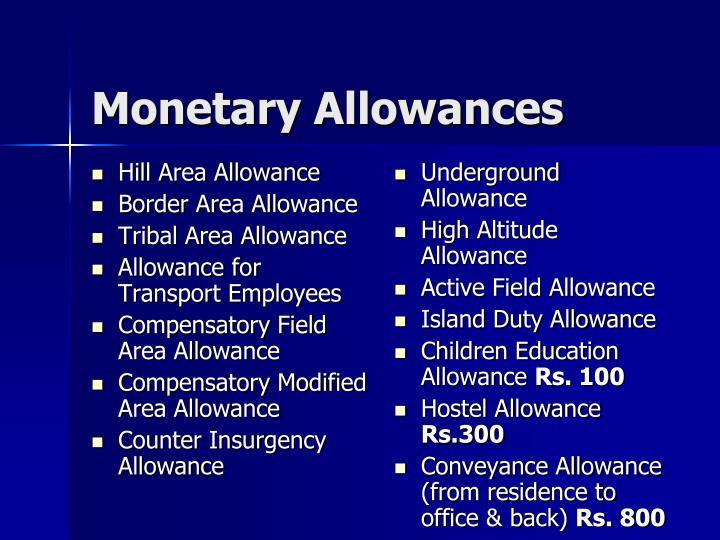 Hill Area Allowance