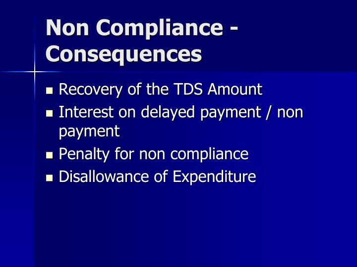 Non Compliance - Consequences