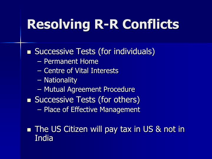 Resolving R-R Conflicts