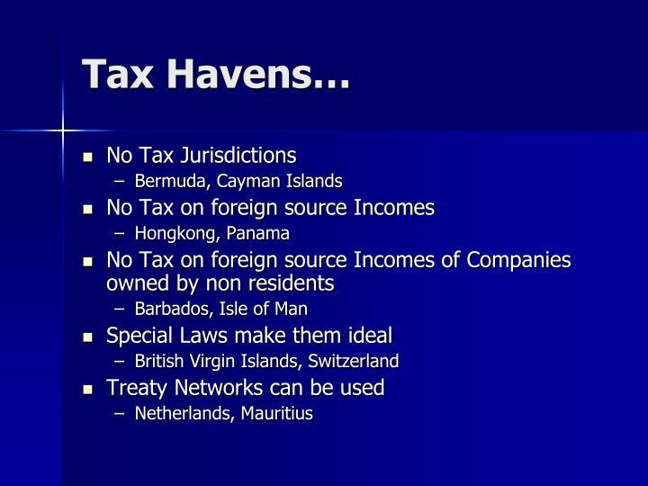 Tax Havens…