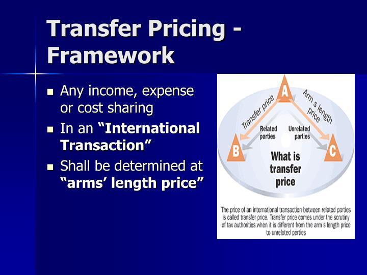 Transfer Pricing - Framework