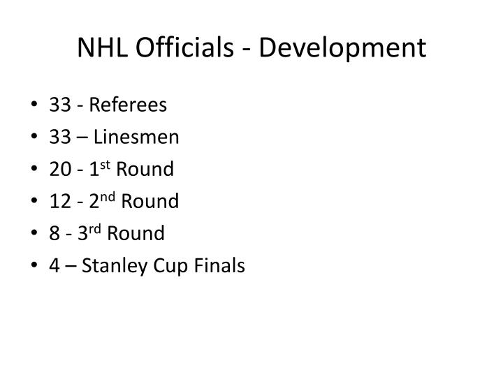 NHL Officials - Development