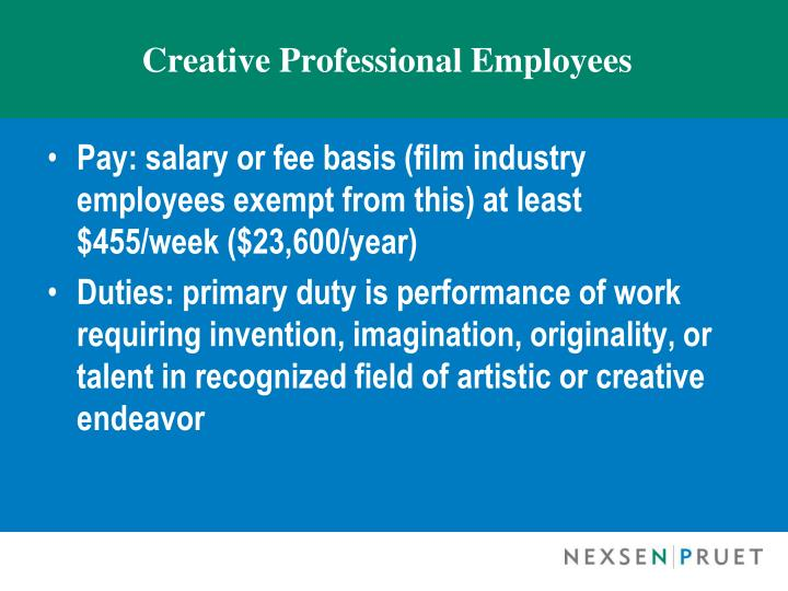 Creative Professional Employees