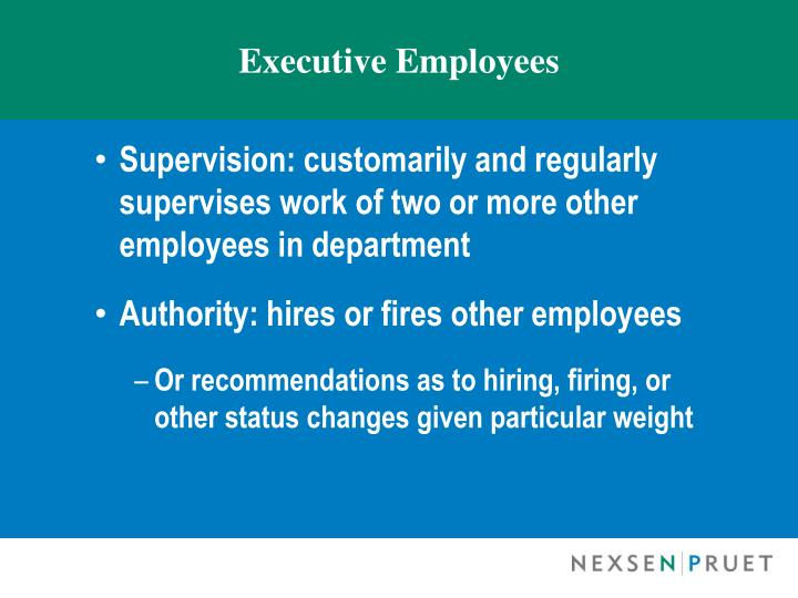 Executive Employees