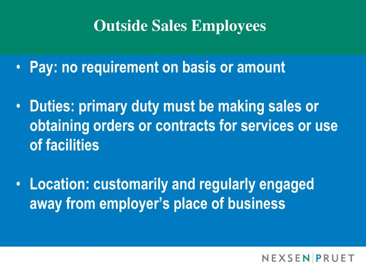 Outside Sales Employees