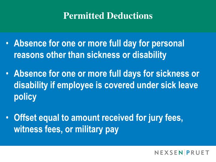 Permitted Deductions