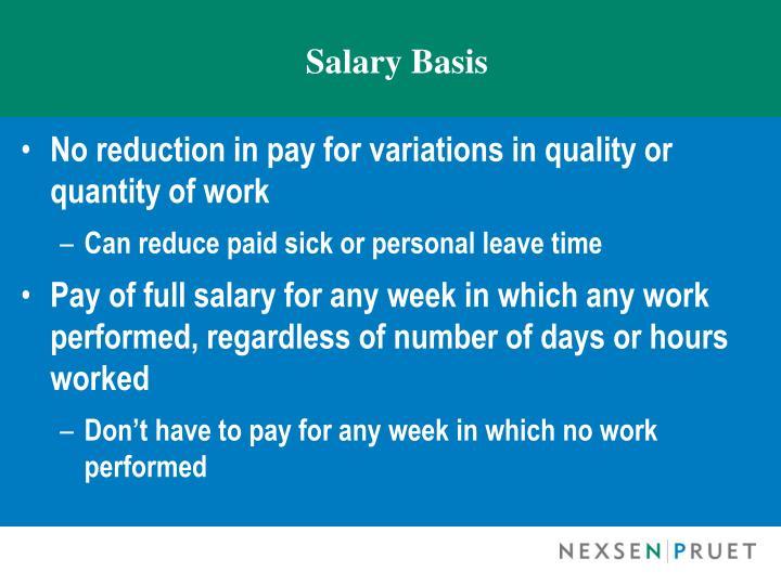 Salary Basis