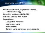 leveraging non edrn resources