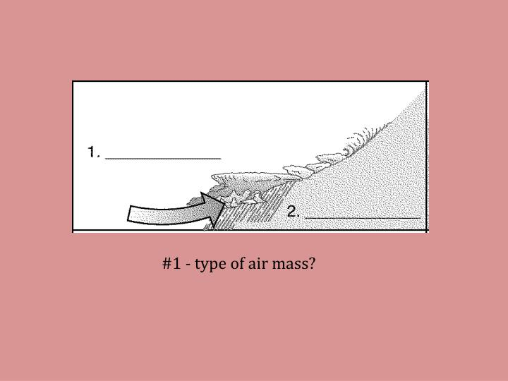 #1 - type of air mass?