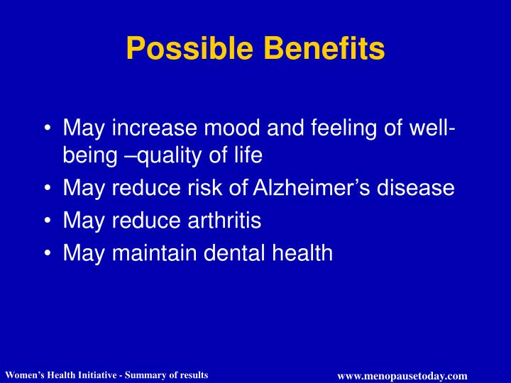 Possible Benefits