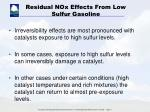 residual nox effects from low sulfur gasoline2