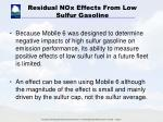 residual nox effects from low sulfur gasoline4