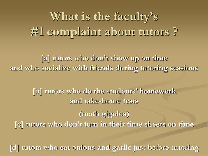 What is the faculty's