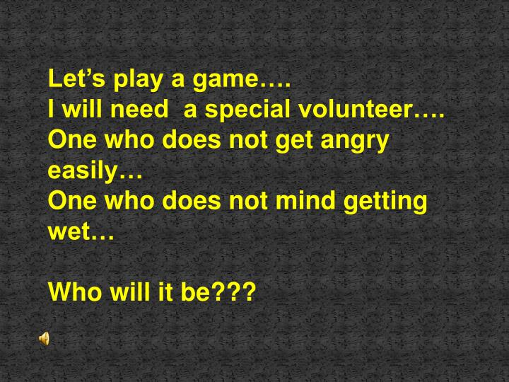 Let's play a game….