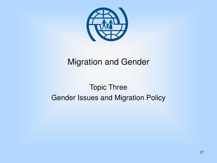 Migration and Gender