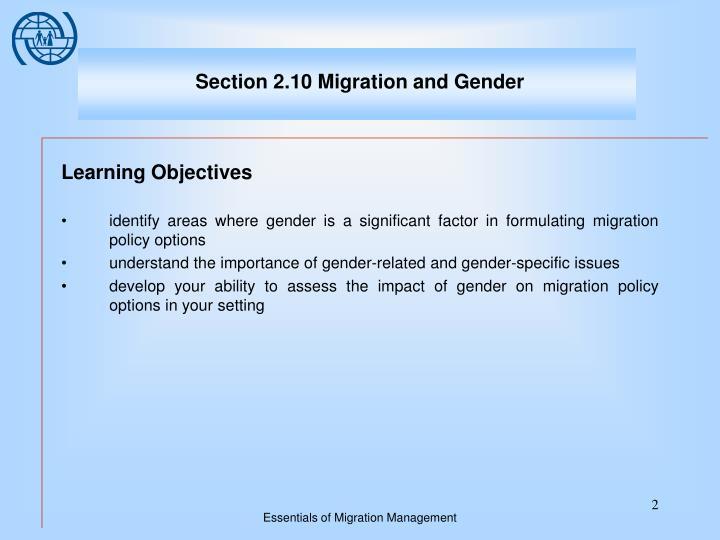 Section 2 10 migration and gender