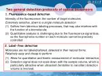 two general detection protocols of optical biosensors