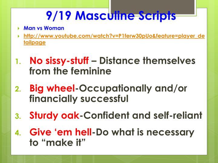 9/19 Masculine Scripts